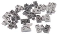 LEGO - 10 x Anhänger Kupplung 1x2 hellgrau auf 1x2 dunkelgrau / 14417 14704 NEU