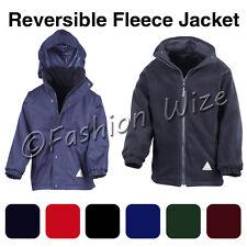 Boys Fleece Reversible Jacket Winter Warm School Coat