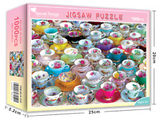 1000 pieces Jigsaw Puzzle Colorful Cups Education Puzzles For Adults Kids