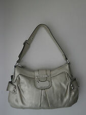 NEW GUESS METALLIC GOLD FAUX LEETHER WOMEN'S HANDBAG
