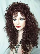 "Sexy "" Lioness "" Wig Drag Queen Cosplay Long 28 in Tight Curly Cher Retails $130"