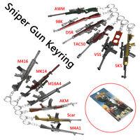 Mini Alloy Pistol Gun Model Keychain Weapon Military Metal Keyring Keychain Gift
