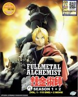 FULLMETAL ALCHEMIST (SEA 1+2) - COMPLETE ANIME TV SERIES DVD (1-115 EPIS+MOVIE)