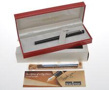Sheaffer Targa stilo nera 1002s black slim size fountain pen new pristine in box