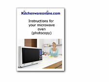 Instruction book for Merrychef MD1400 and MD1800 microwave oven