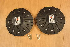 2 x KMC XD Series 778 Monster Matte Black Wheel Rim Center Cap 846L215 846L215B