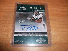 (2) 2007 Football Contenders Tony Hunt Rookie Auto Patch Cards Eagles /725