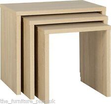 Seconique Living Room Furniture - Cambourne Sonoma Limed Oak Nest of 3 Tables