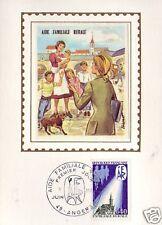 1682+ FDC CARTE 1er JOUR SOIE AIDE FAMILIALE RURALE