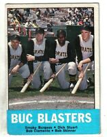 "1963 Topps Baseball Card #18 Bob Clemente Pittsburgh Pirates ""Buc Blasters"" EX"