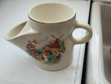 VINTAGE  SHAVING MUG WITH A DUTCH SCENE INCLUDING A WINDMILL    NO MAKERS MARK