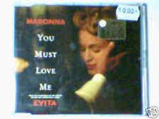 MADONNA You must love me cd singolo EVITA GERMANY