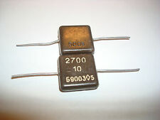 2700pF 500V 10% Kso Kco Silver Mica Capacitors New Lot Of 10