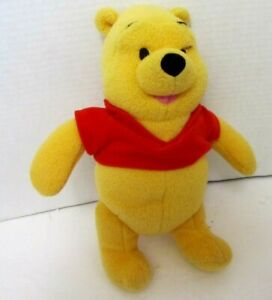 """Disney Fisher Price Winnie the Pooh Plush Rattle Red Shirt Baby Toy stuffed 10"""""""