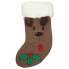 Kyjen Dog Holiday Stocking-Brown