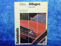 Handybooks ALLEGRO Owner's Handbook PB Book by Kenneth Ball from 1973 Austin #28