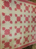 Old Vintage Hand Made Quilt Hearts/Arrows 70x70