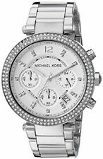 Michael Kors Parker Silver Tone Steel Chronograph MK5353 39mm Ladies Watch