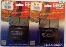 APRILIA TUONO R (de 2002 a 2010) EBC Kevlar Pastillas De Freno Delantero (FA244) (2 Juegos)