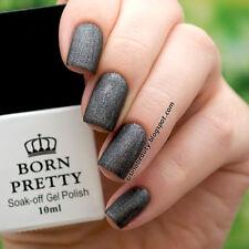 Soak Off UV Gel Nail Polish Black Matte Nail Varnish 3908# 10ml Born Pretty