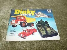 Original dinky Toy Diecast Car Supertoys catálogo 9 lista de precios Pantera Rosa 1973