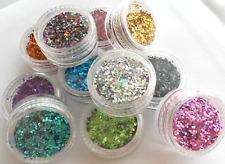 Nail Art Glitter HOLOGRAMM 4 ECK PAILLETTEN SET 1mm Shapes  N*E*U  bei uns !