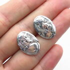 Antique+Art+Deco+925+Sterling+Silver+Roman+Emperor+Sewing+Buttons+%2F+Cufflinks