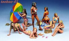 1:35 resin figure kit summer beach sexy bikini girl 7 model garage kit A586