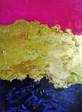PAINTING, 'LOVE BANNER(3)', ABSTRACT COMPOSITION, CANVAS BOARD, FREE SHIPPING!