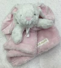 Blankets & Beyond White Bunny plush Baby Blanky security Pink blanket lovey Soft
