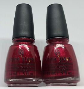 China Glaze Nail Polish JUST BE CLAWS 1252 Candy Apple Rich Red Shimmer Lacquer