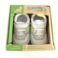 Surprize by Stride Rite Baby Boys Jack Sneakers White Yellow Size 12-18 Months