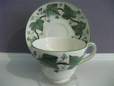 Wedgwood Napoleon Ivy creamware pear shape cup & saucer 1940's