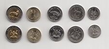 Uganda Complete set of 5 coins 2015 Series ( 50,100,200,500 & 1000 Shs) all MINT