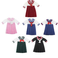 Pleated School Uniform Dress Clothes for 1/6 Blythe Dolls Outfits Accessory