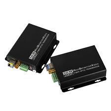 HD-SDI to LC Optical Fiber Converter Video Extender 3.5mm External Audio RS232