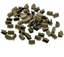 lot de 50 Fermoirs griffes à pincer - Longueur 10 x 7 mm - Couleur Bronze