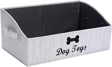 Morezi Linen-Cotton Blend Dog Toy Basket and Dog Toy Box, Dog Toy Basket Storage