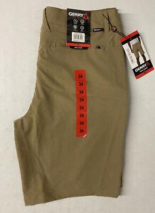 GERRY Men's Uniform KHAKI Quick Dry Trail Shorts 34 Short Stretch Hiking NEW