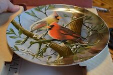 Vintage Knowles Porcelain Plate The Cardinal by Kevin Daniel In Box