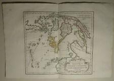 South-East Asia, 1784 HAND COLORED MAP DE VAUGONDY