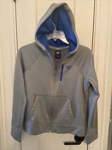 Boys Abercrombie & Fitch Grey Active Hoodie Kids Large Full Zip
