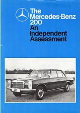 Mercedes-Benz 200 W115 1975-76 UK Market Road Test Brochure