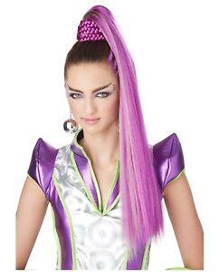 Cosmic Ponytail Extension Anime Costume Wig Cosplay Kawaii Long Pink Purple