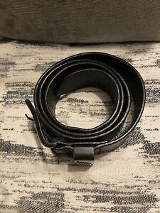 Armani Jeans Leather Men's Belt - Black