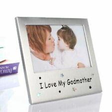 I Love My Godmother Satin Silver Photo Frame