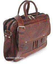 Men's Genuine Vintage Leather Messenger Bag Satchel Shoulder Laptop  Briefcase