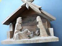 Nativity Scene Vintage Olive Wood Hand carved 6x4