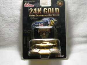 # 20  NASCAR 24K GOLD PLATED. RACING CHAMPIONS 1 OF 5,000 DIECAST 1/64