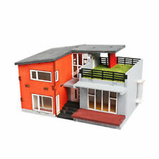 YoungModeler Modern House Desktop Wooden Model Kit
